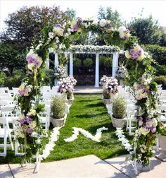 Garden Wedding Ceremony Decorations | Ceremony Flowers: Advice on Creating Floral Designs for Your Wedding ...