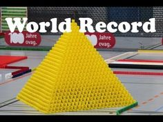 ▶ Guinness World Record - Largest Domino 3D Pyramid (27x27) - YouTube