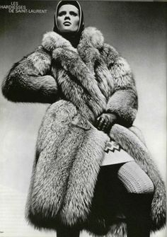 1966 - Yves Saint Laurent fur coat