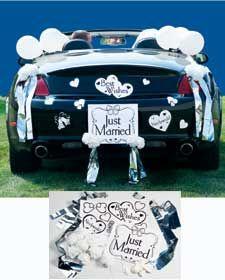 1000 images about wedding car on pinterest wedding car for Just married dekoration