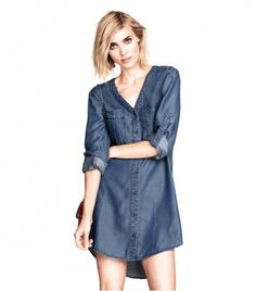 @Who What Wear - H&M H&M Denim Dress ($40)  Oh hey, dress we're wearing on all of our summer errand-runs from now on.