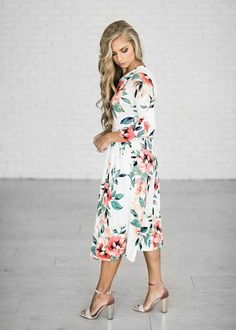 It is incredibly soft, and has just enough stretch to keep you comfortable. With the sweet, pleated waistline this dress will show off your girly shape and keep you comfortable all day long.