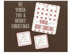We WHISK You A Merry Christmas Tag and Bag by LilacsAndCharcoal