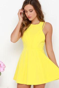 Thrill Chic-er Yellow Dress