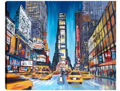 Paul Kenton Going Downtown (rare),inspired by Toby Flood,new York,Paul Kenton,Going Downtown, – Trident Galleries very rare!