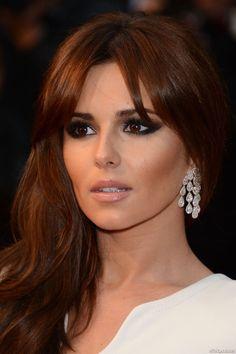 Obsessed with Cheryl Cole& Dark Copper hair color! Red Hair Brown Eyes, Copper Brown Hair, Brown Hair Colors, Dark Hair, Copper Eye, Auburn Hair Copper, Hair Colours, Dark Blonde, Blue Eyes