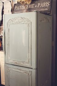 DIY: Shabby French Fridge - tutorial explains how this fridge was given a chalk paint makeover.