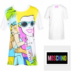 Boutique Moschino Women T-Shirt Table Sizes, Boutique Moschino, T Shirts For Women, Clothes For Women, Fall Winter, Clothing, Summer, Pattern, Sleeves