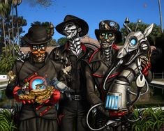 WOW - amazing Steam Powered Giraffe art! Sparrow Assault by Sakalah.deviantart.com on @deviantART