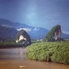 Krabi Town Krabi Town, Thailand, Mountains, Water, Travel, Outdoor, Gripe Water, Outdoors, Viajes