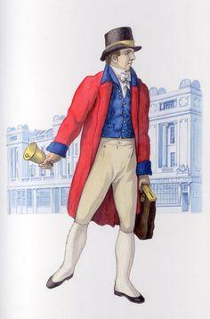 London letter carrier's uniform Modern World History, British History, Teacher Forms, Baronet, Georgian Era, Regency Era, Working Class, English Style, Old London