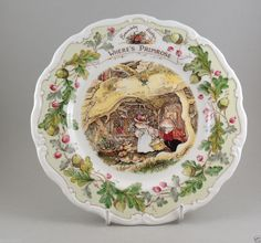 Royal Doulton Brambly Hedge Plate Where's Primrose Jill Barklem Factory Second