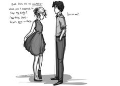 """♥ Victoria and Sirius: """"So are you saying you keep weapons in your other dresses?"""" """"Shut up, Sirius."""""""