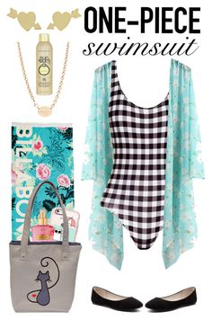 """""""One Piece Swimsuit"""" by creation-gallery ❤ liked on Polyvore featuring Jennifer Meyer Jewelry, Verali, Billabong, Casetify, Victoria's Secret, Tiffany & Co., Sun Bum, sunscreen and onepieceswimsuit"""