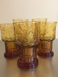 Vintage Libby Glassware  Country Garden  Set by PineStreetPickers