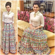 "No doubt Bridal lehenga which is a dream outfit of every girl . But after few years of marriage a question popup ""How to reuse bridal lehenga""? Lehenga Designs, Kurta Designs, Blouse Designs, Indian Designer Outfits, Indian Outfits, Designer Dresses, Indian Gowns Dresses, Pakistani Dresses, Skirt Fashion"