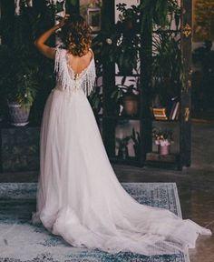 3d boho ivory wedding dress bohemian sleeves lace train | Etsy Bohemian Wedding Dresses, Elegant Wedding Dress, Perfect Wedding Dress, Elegant Dresses, Boho Dress, Bridal Dresses, Wedding Gowns, Wedding Cape, Ivory Wedding