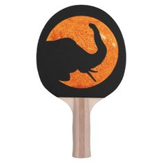 Elephant Profile Solar Eclipse Shadow Ping Pong Paddle - Halloween happyhalloween festival party holiday