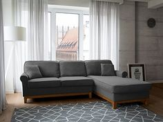 Corner Sofa - Corner Settee - Upholstered Sofa - Dark Grey - NEXO