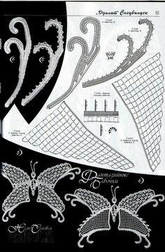 Lace crochet butterfly