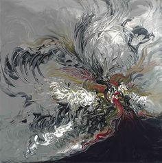 "Emergence by Nadine Rippelmeyer.  a 30x30x3"" piece."