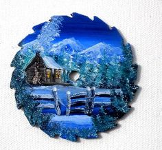 Hand Painted Miniature Round Saw Magnets by LindasMountainCrafts, $5.00