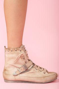 So I fall head over heels in love with a pair of sneakers and they don't have my size. :( Alexander Spiked Sneaker - Nude