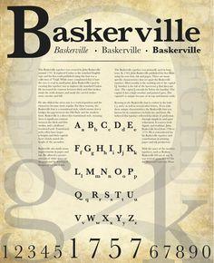 baskerville type face poster 3