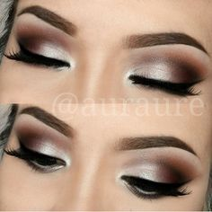 Smokey brown makeup