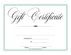This full-sized gift certificate has a fancy and elegant feel. Free to download…