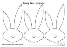 Bunny Face Template 2