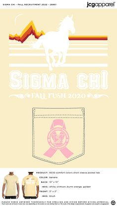 Sigma Chi Fall Recruitment Shirt | Fraternity Fall Recruitment Shirt | Greek Fall Recruitment Shirt #sigmachi #machi #sx #Fall #Recruitment #Shirt #mountain #horse Recruitment Themes, Sigma Chi, Fall Designs, Custom Design Shirts, Sorority And Fraternity, Comfort Colors, Autumn Theme, Spelling, Screen Printing