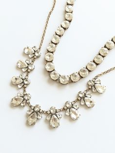 Crystal Bloom & Crystal Dot Necklaces - Bridesmaid Necklace Wedding Necklace Jewelry - Wink of Pink Shop