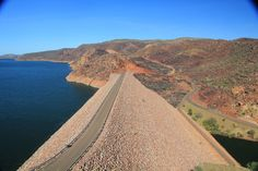 Ord River Dam, Lake Argyle, near Kununurra, Kimberley region, Western Australia   - Explore the World with Travel Nerd Nici, one Country at a Time. http://TravelNerdNici.com