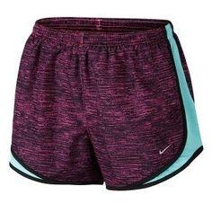 Nike Womens Heatherized Tempo Printed Shorts