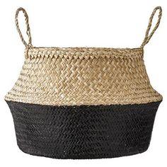 Ce panier boule trouvera parfaitement sa place dans votre intérieur ! A disposer dans le salon ou dans une chambre pour y mettre une plante, des plaids, des jouets... Il se replie pour former une corbeille. Dimensions : 45 cm x 45 cm. Coloris : naturel et noir.