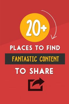 20+ Places to Find Great Content To Share With Your Audience @ http://www.twelveskip.com/marketing/social-media/1336/where-to-find-great-con...