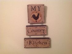 Rooster Kitchen..Country Kitchen Sign.Kitchen by CraftsByJoyice
