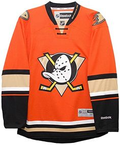 c75a86e1d Anaheim Ducks Reebok Premier Replica Alternate NHL Hockey Jersey - Size  Small Blank back--NO PLAYER NAME Embroidered applique front logo