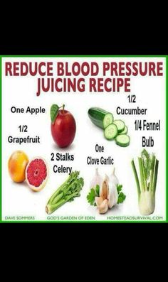 BLOOD PRESSURE JUICING