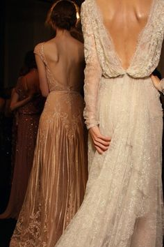 lace :: open back :: wedding dress :: bridal :: bride :: ivory :: blush :: detail :: train :: romantic ::