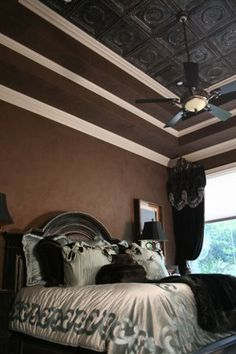 I sure do love this!  I think I'm gonna go for it in my bedroom since I have the recessed ceilings with all the crown molding.  Stay tuned!
