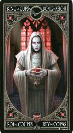 Le roi de coupes - Tarot gothique par Anne Stokes