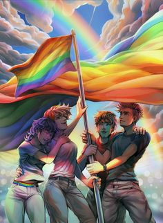 Gay Rights! (for thin attractive white people) smash homophobia! :'D<<< I'm not gay but this is really pretty and I support gay rights Yuri, Art Gay, Gay Aesthetic, Lesbian Pride, Lgbt Community, Deviantart, Equality, Saga, Rainbows