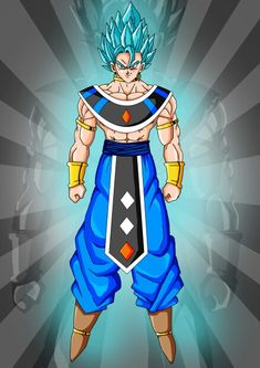 Vegito ssj blue god of destruction Dbz, Vegeta Ssj Blue, Dragon Ball Z Shirt, Dragon Ball Image, Vegito Y Gogeta, Geek Culture, Anime Comics, Mode Style, Like4like