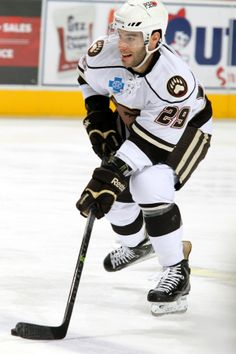 11.24.13 - Hershey Bears player Julien Brouillette.  Photo courtesy of JustSports Photography