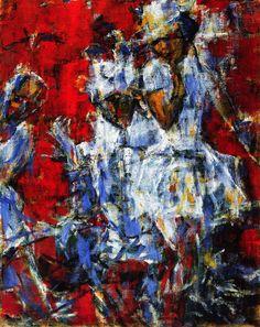 The Athenaeum - A Pair of Dancers (Christian Rohlfs - No dates listed)