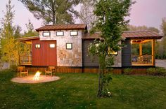 Lake Whatcom Cottage The Caboose Design Wildwood's Wedge Cottage has been designed by our partners at Wheelhaus, leaders in Tiny Homes design and the Tiny Home movement. The Caboose has a complex roofline that enables a loft. The loft is five feet tall and can...