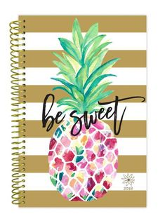 2018 Daily Planner, Be Sweet Pineapple