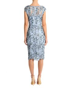 Duck Egg Lace Dress Image 1